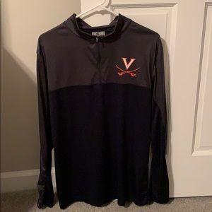 Men's UVA zip up pullover